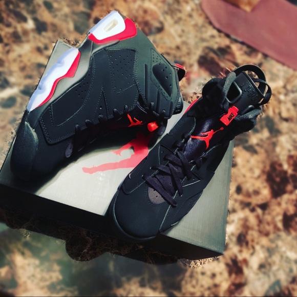 check out 9b5d6 a4153 Jordan Retro 6 Infrared Black NWT